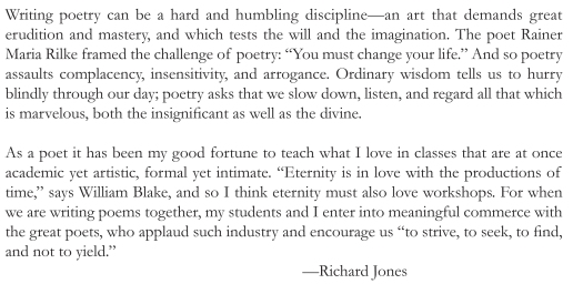 "Richard Jones, ""richard jones"", poetry"