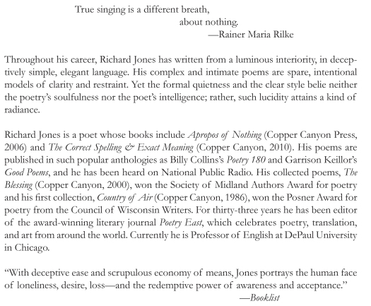 Richard Jones, copper canyon, poetry